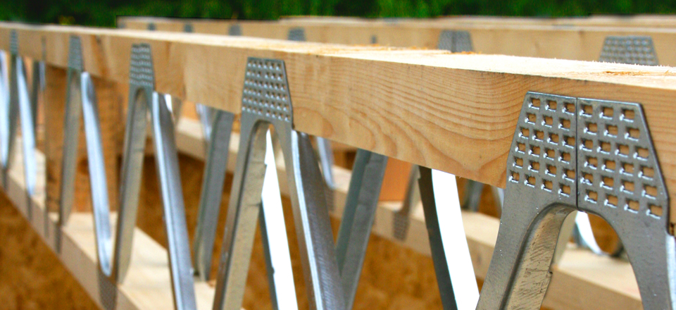 Timber floor joists and metal web floor joists Floor joist trusses